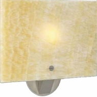 PLC 7316 Allur Single Light Contemporary Wall Sconce with Onyx Glass
