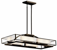 Kichler 42825OZ Isola Large 10-lamp Modern Halogen Kitchen Island Lighting