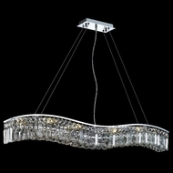 Elegant 2040D44C-RC Contour Large Crystal Island Lighting in Chrome