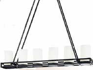 Troy F1027FBZ Aura 6 Light Wrought Iron Kitchen Island Fixture