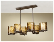 Feiss F26906RBZ Aris 6-light Contemporary Kitchen Island Lighting