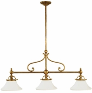 Hudson Valley 7822 Orleans 50.25 inches wide 3-Light Kitchen Island Lighting Fixture