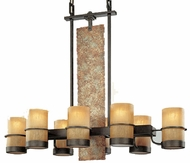Troy F1848BB Bamboo 8 Light Wrought Iron Kitchen Island Fixture