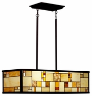 Kichler 65338 Riverview Art Glass Large Boxy Linear Pendant Light