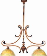 Maxim 12361-PVUWW(OSS) Marquis Traditional 2 Light Kitchen Island Fixture in Wormwood Finish (Over-Stock Sale)