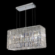 Elegant 2018D26C-RC Maxim 26  Small Clear Crystal Kitchen Island Light Fixture