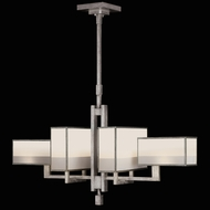 Fine Art Lamps 734040-2 Perspectives Silver 6-lamp Fluorescent Kitchen Island Light Fixture