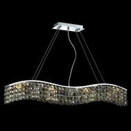 Elegant 2041D36C-GT-RC Contour Square Golden Teak Crystal Medium Island Light Fixture