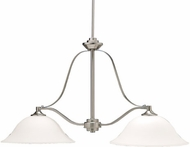 Kichler 3882NI Langford Brushed Nickel Contemporary 2-Light Island Light