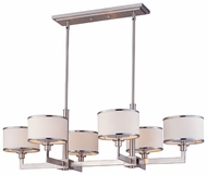 Maxim 12057WTSN Nexus Modern 6-light Satin Nickel Kitchen Island Lighting