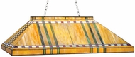 Meyda Tiffany 72539 Prairie Corn Mission Tiffany 6 Bulb Oblong Ceiling Light
