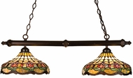 Meyda Tiffany 18824 Colonial Tulip 2 Light Tiffany Kitchen Island Ceiling Light