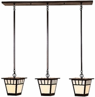 Arroyo Craftsman SICH-7/3 Savannah Craftsman 3 Light Pendant