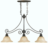 Feiss F2185-3-LBR Cervantes 3 Light Kitchen Island Fixture