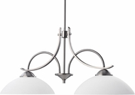 Kichler 2978AP Olympia Antique Pewter Modern 2-Light Island Light