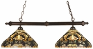 Meyda Tiffany 18847 Jeweled Grape Tiffany Two Shades Island Lamp