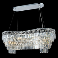 Elegant 2019D40C-RC Maxim Large 14-lamp 40  Chandelier Island Lighting