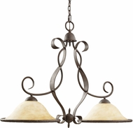 Kichler 2971OI High Country Olde Iron 2-Light Country Island Light