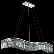 Elegant 2040D36C-RC Contour Medium Chrome and Crystal Kitchen Island Light