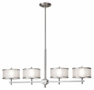Feiss F23444BS Casual Luxury 4-Lamp Kitchen Island Light in Brushed Steel