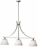 Feiss F2720-3-BS Spectra 36 Inch Long Brushed Steel Kitchen Island Light Fixture