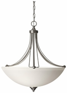 Feiss F2732-3-BS Morgan Brushed Steel 24 Inch Diameter Inverted Pendant Light Fixture
