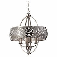 Feiss F2736-4-BS Zara Brushed Steel Modern Pendant Hanging Light