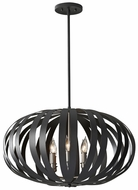 Feiss F2739-6-TXB Woodstock Large Modern Black 6 Light Drop Lighting