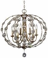 Feiss F2740-6-BUS Leila Crystal 27 Inch Diameter 6 Lamp Pendant Light Fixture