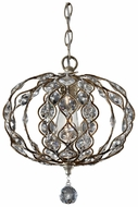 Feiss F2742-1-BUS Leila 12 Inch Diameter Crystal Traditional Mini Pendant Lamp