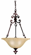 Kichler 3390CZ Wilton Bronze 27 Inch Tall Traditional Inverted Pendant Lighting