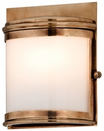 Troy B3321 Rotterdam Small 8 Inch Tall Transitional Brass Outdoor Wall Lighting Fixture