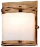 Troy B3322 Rotterdam Medium Aged Brass 9 Inch Tall Transitional Outdoor Light Sconce