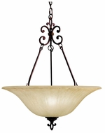 Kichler 3391CZ Wilton Traditional 26 Inch Diameter Carre Bronze Finish Inverted Pendant Lamp