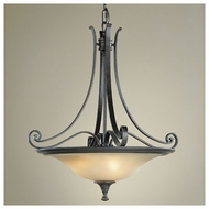 Feiss for Less F19313LBR Cervantes Traditional Pendant Light