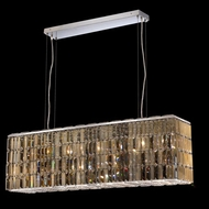 Elegant 2018D44C-GT-RC Maxim 44  Large Golden Teak Crystal Kitchen Island Lighting