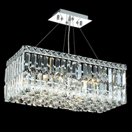 Elegant 2034D20C-RC Maxim 20  Mini 4-lamp Kitchen Island Light Fixture with Long Crystals