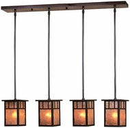 Arroyo Craftsman HICH-4L_4 Huntington Craftsman 4 Light Pendant