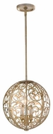 Feiss F25383SLP Arabesque Globe Pendant Light
