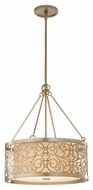 Feiss F25374SLP Arabesque Drum Pendant Light
