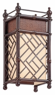 Kichler 43254CYZ Rum Cove 18 Inch Tall Cayman Bronze Tropical Style Wall Sconce Lighting
