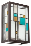 Kichler 69192 Caywood 7 Inch Wide Tiffany Pocket Wall Sconce Lighting