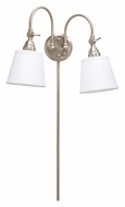 Kichler 78012NIW Blaine 2 Lamp Brushed Nickel Lighting Sconce - 35 Inches Tall