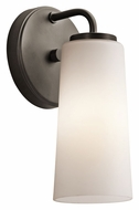Kichler 42979OZ Whitley Transitional 11 Inch Tall Olde Bronze Sconce Lighting
