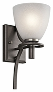 Kichler 43030AVI Neillo Anvil Iron 14 Inch Tall Transitional Wall Light Fixture