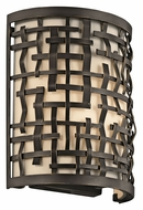 Kichler 43050OZ Loom Olde Bronze Finish 10 Inch Tall Transitional Wall Lighting