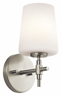 Kichler 45385NI Arvella Transitional 10 Inch Tall Brushed Nickel Wall Sconce Light Fixture