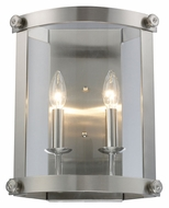 ELK 66270-2 Chesapeake Satin Nickel Finish 13 Inch Tall Transitional Sconce Lighting
