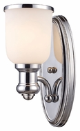 Landmark 66150-1 Brooksdale Polished Chrome Finish 13 Inch Tall Sconce Lighting