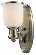 Landmark 66160-1 Brooksdale Satin Nickel Finish 13 Inch Tall Wall Sconce Light Fixture